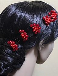 Women's Alloy / Imitation Pearl Headpiece-Wedding / Special Occasion Hair Pin 5 Pieces