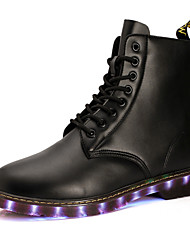 Unisex Boots Spring / Summer / Fall / Winter Couple LED Shoes / Athletic / Casual  LED Light Shoes Black / Tan Walking