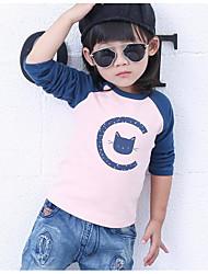 Tee-shirts Fille de Imprimé Décontracté / Quotidien Coton Printemps / Automne Rose
