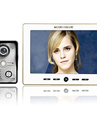 MOUNTAINONE 10 Inch Video Door Phone Doorbell Intercom Kit 1-camera 1-monitor Night Vision