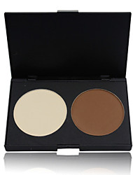 2 Concealer/Contour Dry Powder Concealer Face Brown / White China