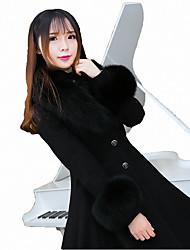 Amaloli Accesorios Manga Larga Longitud Larga Blanco / Negro Lolita vestido Tejido de lana