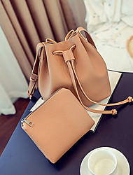 Women PU Casual Shoulder Bag / Bucket bags