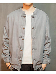 Fall Jacket Long Sleeve Linen