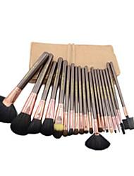 20 Conjuntos de pincel Escova de Cabelo de Cabra Profissional / Portátil Madeira Rosto / Olhos / Lábio Outros