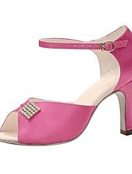 Customizable Women's Dance Shoes Satin / Sparkling Glitter Satin / Sparkling Glitter Latin / Jazz / Swing Shoes / Salsa Sandals / Heels