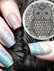 2016 Latest Version Fashion Owl Pattern Nail Art Stamping Image Template Plates