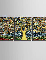 toile set Abstrait / A fleurs/Botanique Style européen,Trois Panneaux Toile Verticale Imprimer Art Décoration murale For Décoration
