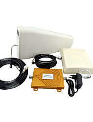 CDMA PCS Mobile Phone Signal Booster 850MHz 1900MHz Dual Band Signal Repeater Amplifier with Panel Antenna / Log Periodic Antenna