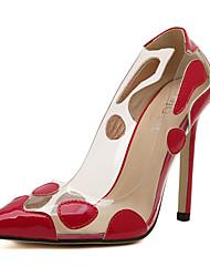 Homme-Mariage / Habillé / Soirée & Evénement-Rouge / Argent / Or-Talon Aiguille-Bottes à la Mode-Chaussures à Talons-Le gel de silice