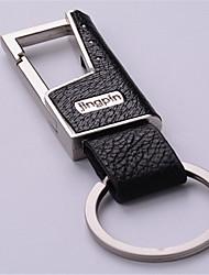 homens grau de anel de couro da cintura fivela de metal moda chave do carro - alta