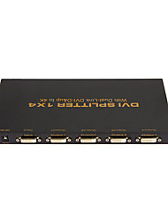 1X4 DVI SPLITTER 1*4 with Dual Link DVI-D 4Kx2K High Quality 1 In 4 Out Video Splitter Resolution up to 3840x2160@30Hz HDCP EDID 4Layer PCBA
