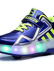 Черный Синий Белый-Для мальчиков-Для прогулок Повседневный Для занятий спортом-Полиуретан-На платформе-Удобная обувь-Спортивная обувь