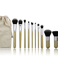 11 Makeup Brushes Set Nylon / Synthetic Hair Professional / Portable Wood Face / Eye / Lip