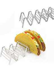 Taco Holders Mexican Food for 4-5pcs Stainless Steel Rack Stand Hard Soft Shells Strong Wavy Rack Bread Sandwich Holding
