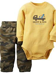 малыш Блуза-На каждый день,Горошек,Хлопок,Осень-Синий / Зеленый / Желтый / Серый