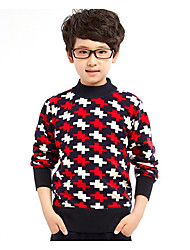 Boy's Casual/Daily Print Sweater & CardiganCotton Winter / Fall Red
