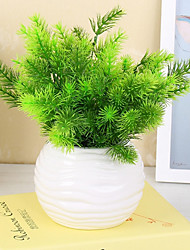 7 Heads/Bouquet Pine Tree Fake Plant Household Decorations Plant Wall
