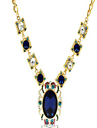 Necklace Rhinestone Pendant Necklaces Jewelry Wedding / Party / Daily Fashion Alloy Dark Blue 1pc Gift