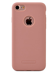 For iPhone 7 Case / iPhone 7 Plus Case Dustproof Case Back Cover Case Solid Color Soft TPU Apple iPhone 7 Plus / iPhone 7