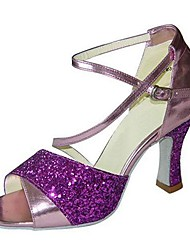 Customizable Women's Dance Shoes Satin / Leatherette Latin / Jazz / Swing Shoes / Salsa Sandals / HeelsCustomized
