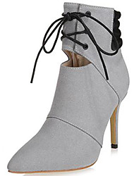 Women's Boots Spring /Summer/Fall/Winter Heels /Fashion Boots Fur Party & Evening / Casual Stiletto Heel Black/Gray