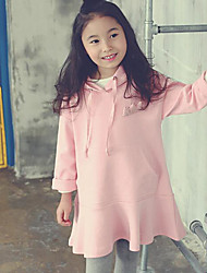 Girl's Casual/Daily Solid Dress / Hoodie & SweatshirtCotton Winter / Fall Pink / Yellow