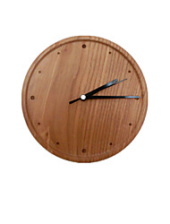 Note Dot Type Original Wood-Grain Wall Clock