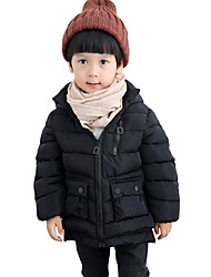 Boy's Cotton Fashion Spring/Fall/Winter Casual/Daily Solid Color Long Sleeve Thicken Hoodie Padded Down Jacket Coat