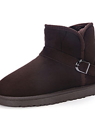 Women's Boots Winter Slide PU Casual Flat Heel Others / Slip-on Black / Brown / Camel Others