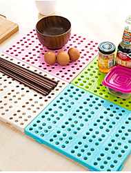 Lishui Storage Dish rack Plastic Porous (Random Colours)