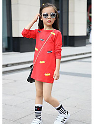 Girl's Casual/Daily Solid Overall & JumpsuitCotton Spring / Fall Black / Red