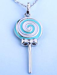 colar lollipop shapped pingente de colares de jóias de prata do casamento / partido de moda esterlina das mulheres