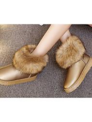 Для женщин Ботинки Армейские ботинки Полиуретан Мех Зима Повседневные Для прогулок Армейские ботинки На низком каблуке На платформеБелый