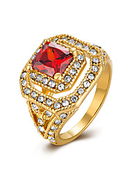 Ms AAA Zircon Sexy Luxury Rich Exaggeration Character Protagonist 18K Gold Ring