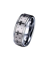 Band Rings Jewelry Tungsten Steel Cross Fashion Simple Style Silver Jewelry Daily Casual 1pc