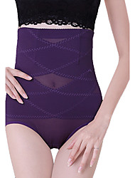 Women's Simple High Waist Breathable Shaping Panties Nylon Toning Pants