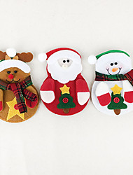 Christmas Toys Holiday Supplies Santa Suits / Elk / Snowman Textile Red / White / Yellow All