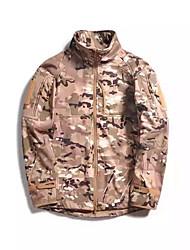 Hiking Softshell Jacket Men's Waterproof / Breathable / Thermal / Warm / Windproof / Wearable  VelvetDark Gray /