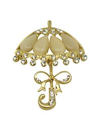 femmes noël parapluie d'or de broches d'ours polaire