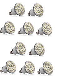 6W E14 Spot LED MR16 60 SMD 3528 550-600LM lm Blanc Chaud / Blanc Froid Gradable / Décorative V 10 pièces