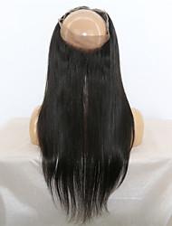 100% cabelo virgem 360 rendas fechos frontais banda humanos orelha para a orelha 360 fechamentos de laço frontal com cabelo do bebê