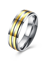 Men's Band Rings Fashion Stainless Steel Gold Plated Jewelry For Wedding Party Daily Casual