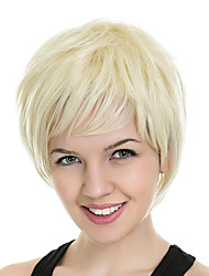 Blonde Natural Looking Hairstyle Fashion Style Wigs for European and American Ladies Heat Resistant Synthetic Fabric
