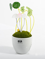 resina cerâmica novidade pot lâmpada cogumelo noite luz da lâmpada LED sensor de lâmpada mini-quarto de poupança de energia da lâmpada