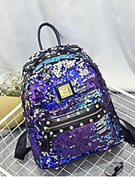 Women PU Casual / Outdoor Backpack Black / Multi-color