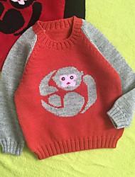 Baby Pullover & Cardigan-Lässig/Alltäglich Jacquard Baumwolle Winter / Herbst-Orange