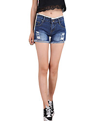 Women's Solid Blue Jeans / Shorts PantsSexy / Simple / Street chic Summer