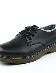 Men's Oxfords Winter Mary Jane PU Casual Flat Heel Lace-up Black / Brown / Coffee Others