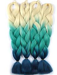 Box Braids 7packs crochet braid Jumbo Hair Extensions 24inch Kanekalon 3 Strand 100 gram Hair Braids
